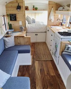 Tiny House Ideas: Inside Tiny Houses – Pictures of Tiny Homes Inside and Out (vi – Van Life Van Living, Tiny House Living, Living Spaces, Living Room, Living Area, Inside Tiny Houses, House Inside, Van Life, Interior Trailer