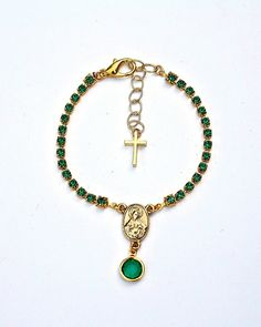 The Emerald Rosary Bracelet by JewelMint.com, $40.00