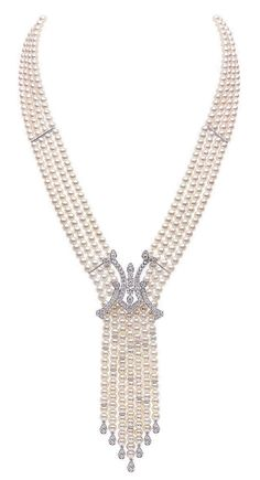 Yoko London White Gold Freshwater Pearl and Diamond Necklace, from our Mayfair collection Short Necklace, Necklace Types, Beaded Necklace, High Jewelry, Pearl Jewelry, Jewelery, Yoko London, Beautiful Diamond Rings, Pearl And Diamond Necklace