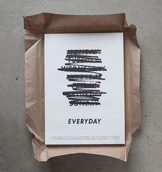 AALBIN HOLMQVIST | poster design for Gustav Johansson's short film 'EVERYDAY'