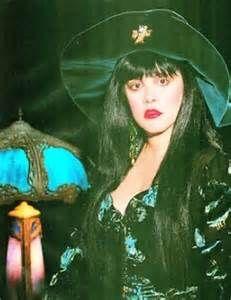 Stevie Nicks with dark hair