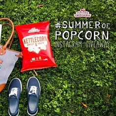Popcorn, Indiana popcorn is the perfect summertime accessory! Take it with you wherever life takes you. And don't forget to snap a pic and share it with us on Instagram for a chance to win our #SummerofPopcorn Giveaway! Click here for rules and to view entries: https://www.tintup.com/t/summerofpopcornsweepstakes