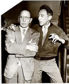 Igor Stravinsky & Jean Cocteau #CocoChanel Visit espritdegabrielle.com | L'héritage de Coco Chanel #espritdegabrielle