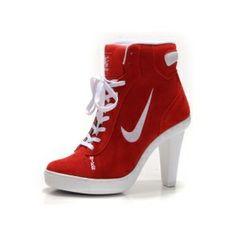Nike SB High Top bianco tacchi scarpette rosse