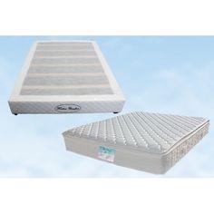 Queen Quality Memory Foam Pillow Top Pocket Spring Mattress + Base