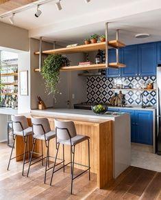 Kitchen Room Design, Modern Kitchen Design, Living Room Kitchen, Home Decor Kitchen, Interior Design Kitchen, Kitchen Furniture, Home Kitchens, Industrial Kitchen Design, Kitchen Remodel