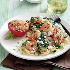 Mediterranean shrimp skillet recipe