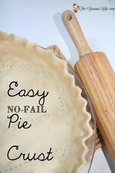 An easy, flaky, no-fail pie crust recipe that comes out perfect, flaky, and delicious. Every. Time.