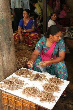 Fish Market, Goa - India