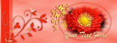 orange flower fb banner