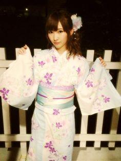Iwasa Misaki 岩佐美咲 July 27, 2014.  Dreams do come true, and wearing a kimono.