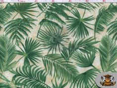 100% Cotton Print  Wilmington  Wild Palms: Scatter by FabricEmpire