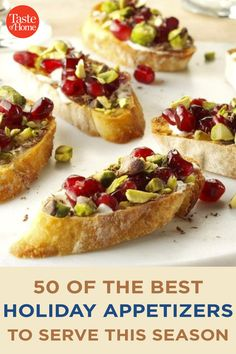 50 of the Best Holiday Appetizers to Serve This Season Finger Food Appetizers, Appetizers For Party, Appetizer Recipes, Appetizer Ideas, Xmas Food, Christmas Cooking, Lotte Au Curry, Best Christmas Appetizers, Christmas Snacks