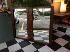 BRUTALIST CUBIST WALL MIRROR  from LANE Paul Evans style Paul Evans, Lane Furniture, Brutalist, Wall Mirror, Eames, Mid Century, Home Decor, Style, Swag