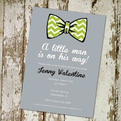 Little man bow tie inspired baby shower invitations shower baby boy shower invitation with bow tie digital by katiedidesigns 1300 filmwisefo