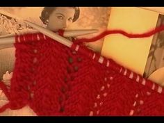 LACE SCARF KNITTING TUTORIAL. Lace Scarf Knitting Pattern By TheCastingOnCouch.com - YouTube