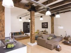 soggiorno con cucina a vista moderne - Cerca con Google