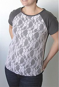 Easy DIY Lace Front Tee   AllFreeSewing.com
