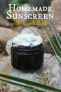 Homemade sunscreen with essential oils - a great DIY recipe (perfect as a gift, especially for those with sensitive skin)