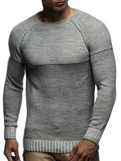 LEIF NELSON Herren Strickpullover Pullover Sweatshirt LN20706; Grš§e XXL, Grau: Amazon.de: Bekleidung