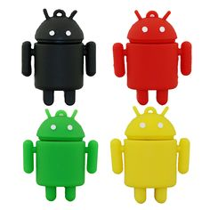 100% real capacity pen drive cartoon cute Android robot 4gb/8gb/16gb/32gb usb flash drive memory stick pendrive gifts