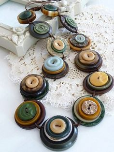 Interesting idea of a button necklace