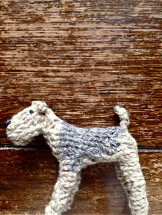 Etsy - Airedale Knitted Dog