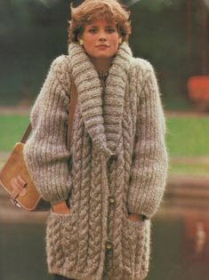 Ladies Over-size Baggy Cable Aran JacketImmediate Obtain PDF Classic Knitting Sample Women Excellent Over-size Saggy Cable Aran Jacket Coat with Massive Scarf Collar Bust Ladies Cardigan Knitting Patterns, Knit Cardigan Pattern, Baby Knitting Patterns, Crochet Coat, Knitted Coat, Mohair Sweater, Cardigans For Women, Jackets For Women, Ladies Jackets