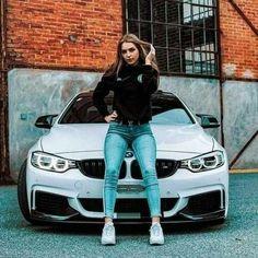 Sexy Cars, Hot Cars, Car Poses, Bmw Girl, Senior Photos Girls, Bmw Love, Beautiful Blonde Girl, Car Girls, Car Photography