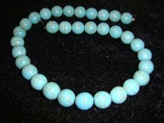 'Full Strand 10mm Turquoise Beads' is going up for auction at  9am Sat, Jan 19 with a starting bid of $5.