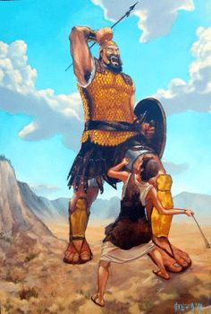 David and Goliath Illustration Artworks and Fan Arts Images Bible, Bible Pictures, David Et Goliath, Roi David, David Bible, Bible Heroes, La Sainte Bible, Bible Illustrations, King David