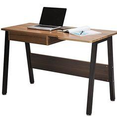 TOPSKY Home Office Desk Stylish Design Wooden Study Desk Dressing Table with Drawer (OAK Brown) Dressing Table With Drawers, Study Desk, Wooden Desk, Home Office Desks, Table Desk, Kitchen Dining, Stylish, Brown, Computer Desks