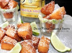 Deep Fried tequila shots- could use a different liquor too
