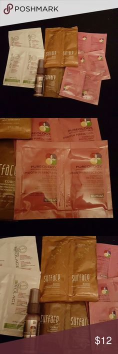 Surface Pureology Biolage sampler of 8 New 8 sample packs! We all love to try new products! All beauty products I list are Authentic and fresh. Save 20% bundle. surface  Other
