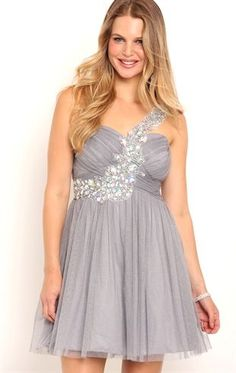 Deb Shops One Shoulder Short #Homecoming Dress with Stone Trim Strap $80.00
