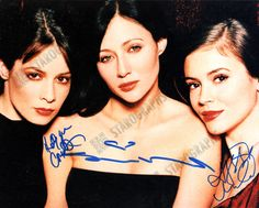 An awesome 8 x 10 photo signed by Rose McGowan, Holly Marie Combs and Alyssa Milano from Charmed (Ref 408)