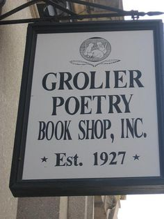 """Grolier Poetry Book Shop in Cambridge, Massachusetts, United States.  Poetry is honored every day at the Grolier Poetry Book Shop in Harvard Square, it lays claim to being the """"oldest continuous bookshop"""" devoted solely to the sale of poetry and poetry criticism in the United States"""