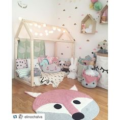 House bed and cute kids room