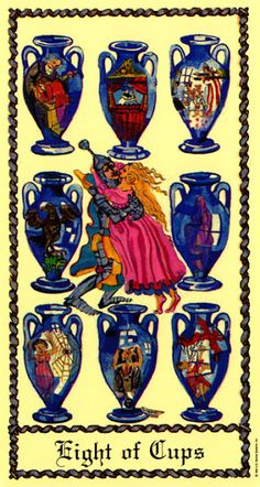 Eight of Cups - Medieval Scapini Tarot by Luigi Scapini