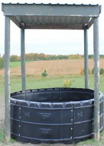 PROSPECT EQUINE FARMS INC. - HORSE HAY FEEDER - POLY ROUND BALE FEEDER FOR HORSES AND HAY RINGS FOR ROUND BALES