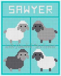 After making my elephant baby blanket and my fish and duck baby blanket, a friend wanted to know if I could do a sheep blanket for her grandson. Inspired by Repeat Crafter Me's bobble stitch … Cross Stitch Cards, Cross Stitch Animals, Cross Stitching, Cross Stitch Embroidery, Cross Stitch Patterns, Baby Knitting Patterns, Knitting Charts, Crochet Sheep, Crochet Stitches