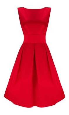 Lovely red dress, I think this dress will suit my pear body shape & the colour go with my blonde hair.