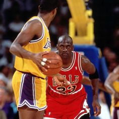 Michael Jordan Chicago Bulls Earving Magic Johnson Los Angeles Lakers