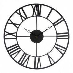 Klok Vintage Bruin - Wanddecoratie - Eminza Clock, Wall, Vintage, Home Decor, Linens, Everything, Watch, Walls, Vintage Comics