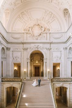 Glamorous Gold and Marble Wedding Photos at San Francisco City Hall San Francisco City, City Hall Wedding, Glamorous Wedding, 1920s Wedding, Harry Wedding, Dream Wedding, 1920s Party, Engagement Photos, Engagement Session