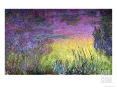 Waterlilies at Sunset, 1915-26 by Claude Monet. Giclee Print from Art.com, $49.99