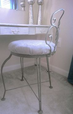 Refurbished old chair into vanity chair | things ive done ...