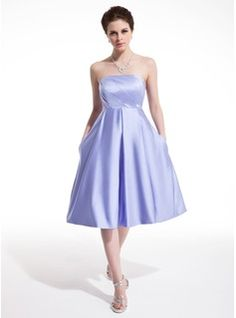 Homecoming Dresses - $114.99 - Empire Strapless Knee-Length Satin Homecoming Dress With Ruffle  http://www.dressfirst.com/Empire-Strapless-Knee-Length-Satin-Homecoming-Dress-With-Ruffle-022010952-g10952