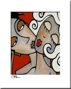 One Two Three Original Abstract painting Modern pop por fidostudio