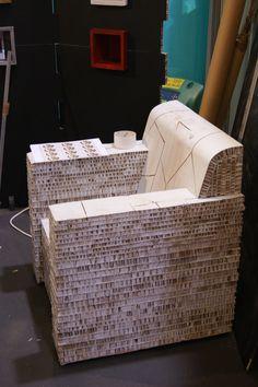 Meuble en Carton nid d'abeilles